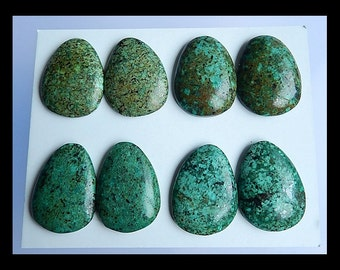 SALE,4 Pairs African Turquoise Gemstone Cabochon,28x20x6mm,38.5g