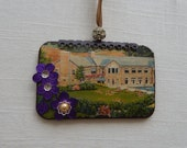 Oglebay Park, Wheeling, West Virginia. ornament. boho chic.  one of a kind original hanging art.