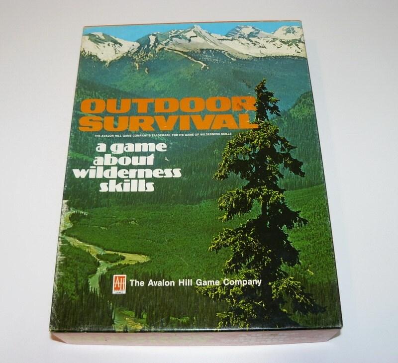 Camping Survival Skills: Vintage Outdoor Survival Board Game WIlderness Skills