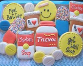 Get Well set - sugar cookies