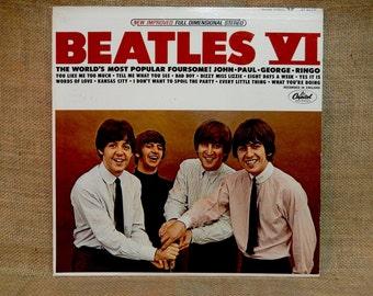 The Beatles - Beatles VI - 1965 Vintage Vinyl Record Album