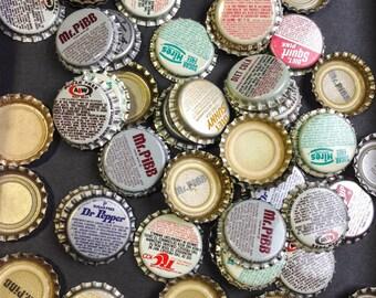 50 unused mixed Vintage Soda Pop Bottle Caps scrapbook