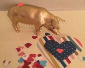 Gold Pig Valentine