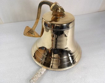 Vintage  Ships Nautical Brass Bell