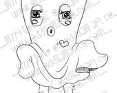 INSTANT DOWNLOAD Digi Stamp Digital Image Spooky Cute Bed Sheet Ghost Image No.254 by Lizzy Love