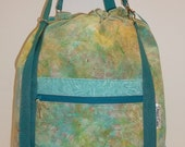 Sale!  Anyway Anywhere Large Bag in Teal Batik Light