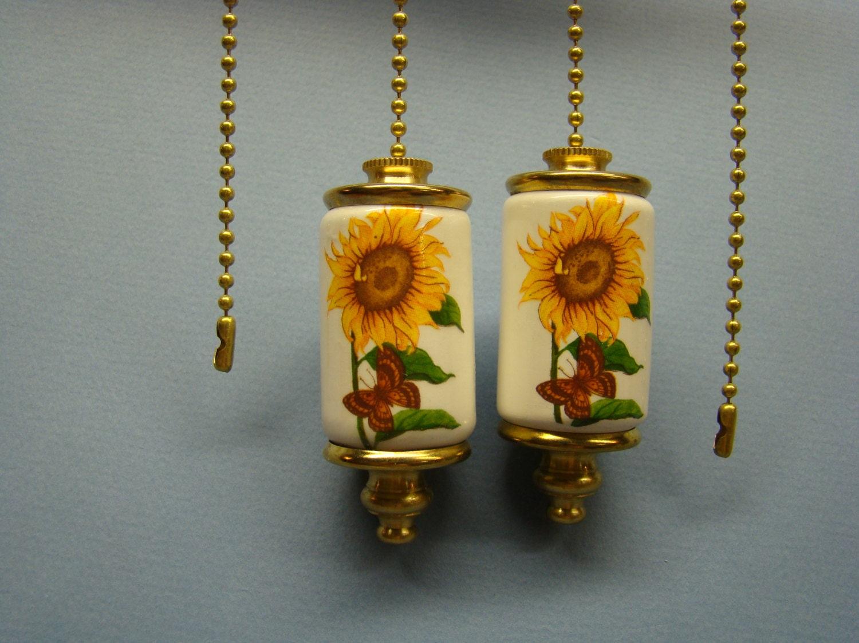 Sunflower Fan & Light Ceiling Fan Pull Chain Light Pull Chain