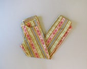 Vintage Lee Lessures Pants. 60s 70s Lee Permaprest Jeans. Psych Mod Tapestry Slacks. Size XS Small