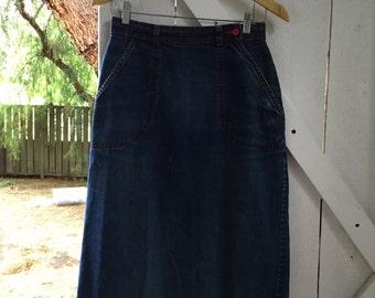 Super soft & broken in 1980s vintage espirit denim skirt s/m