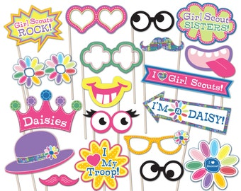 Daisy Girl Scout Photo Booth Props - Printable Instant Download