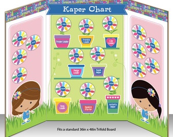 Daisy Girl Scout Kaper Chart - Instant Download - Editable