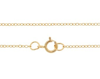 Finished Chains with spring ring clasp 14Kt Gold Filled 1.5x1.2mm 16 Inch Cable Chain - 5pcs (2783)/5