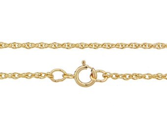 14Kt Gold Filled 1.4mm 16Inch Rope Chain - 1pc (2996)/1
