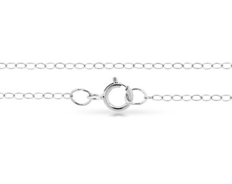 """Sterling Silver 2.2x1.5mm 20"""" Flat wire cable chain - 5pcs Finished chain 10% Discounted (4154)/5"""