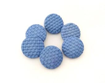 6 Pastel Blue Vintage Buttons