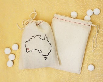 Australia Wedding Favors - State Favor Bags - Australia Favor Bags - Australia Wedding - Aussie Wedding