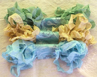 Crinkled Seam Binding Ribbon - Beach Bundle - Rustic, Shabby Chic, Beach, Cottage, French Country, Wedding