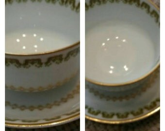 Limoges Demi cup & saucer by Haviland circa 1893-1930   DR