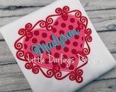 Fun Girls Swirly Heart Personalized Shirt
