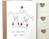 Love Bunnies Valentine's Day Card
