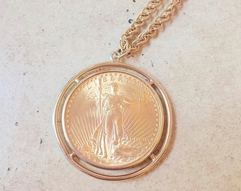 Vintage 1926 Liberty Gold Coin Necklace