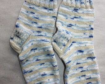 27 cm /// 10,6 inches Hand Knitted Socks, Slipper Socks - Unisex - US Men 9 /// US Women 10,5 /// EU 43