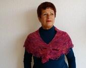 100% wool handknitted wingspan / scarf / wrap / shawl