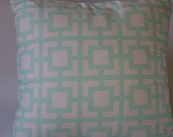 Pillow cover in mint green graphic 18x18