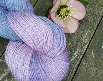 Variegated Hand Dyed Yarn, Alpaca Wool Blend Sock Yarn, fingering yarn, Yorkshire Rose Paco, 4ply yarn