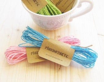 Colored Paper Twist Rope Light Blue, Paper Cord Light Blue 5 mt, Gift Wrapping, Crafts Projects, Rustic Wrapping, Decoration 5,5 yard (5 mt)