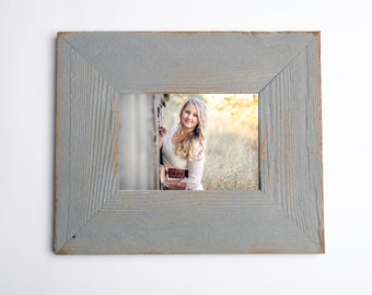 Picture Frame 16x20 or 16x24 shabby frame distressed photo frame, rustic picture frame, elephant gray SEVERAL colors to choose from