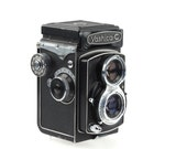 Yashica C - 6x6 cm Film Camera - Tlr With Crank - Collectable -  1960's - Yashica-C - Original Camera Bag