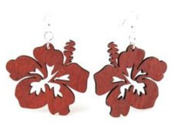 Hibiscus - Wood Earrings