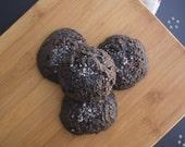 CARLOS: Dark Chocolate Espresso Cookie with Sea Salt 13 big ones