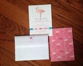 PRINTED Flamingo Invitations, lot of 25