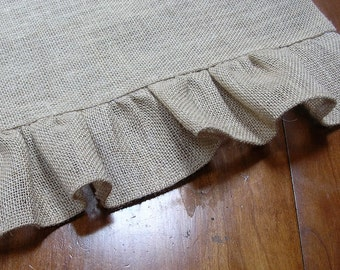 BurlapTable Runner with Ruffled Edge-Lined or Unlined