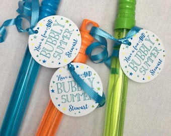 DIY, Have a BUBBLY Summer! Personalized end of the year gift tag.