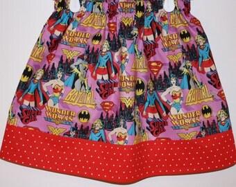 Girls Super Hero Skirt  Size  2 to 8