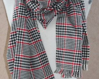 Zara Inspired Blanket Scarf | Blanket Scarf | Red and Black Plaid Scarf |