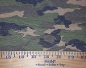 Weathered Camoflauge Knit FAbric - Green, Concrete, Black, Beige