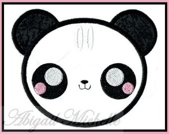 Kawaii Panda Boy Banner Add On - 3 Sizes, Machine Embroidery