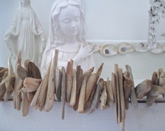 Nautical Driftwood Garland, Indoor/Outdoor. Beach Cottage by searchnrescue2.