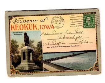 Vintage Keokuk Iowa Postcard Souvenir Folder