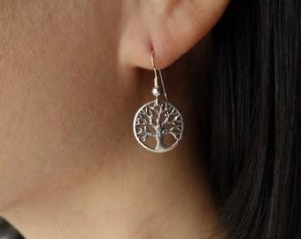 Tree of Life Earrings, family tree, sterling silver tree earrings, bridesmaid gift,bridal shower, wedding gift,