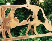 Cow Ornament | Holstein Cow Ornament | Cow Decor | Cow Gifts | Tree Decorations