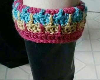 Crochet Boot Cuff Pattern