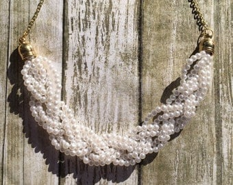Gorgeous braided pearl necklace