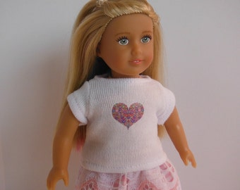 Clothes for Mini American Girl doll, Mini American Girl Clothes, Graphic T for Mini American Girl, Clothes for OGM doll