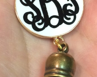 Monogrammed necklace with tassel