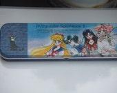 Vintage Tin Pencil Case. Sailor Moon. Unknown Origin.
